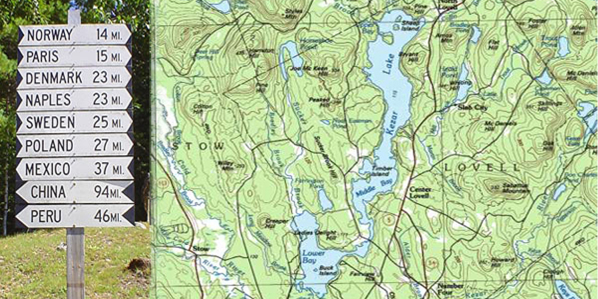 China Lake Maine Map.Directions To Kezar Lake Marina Lovell Maine